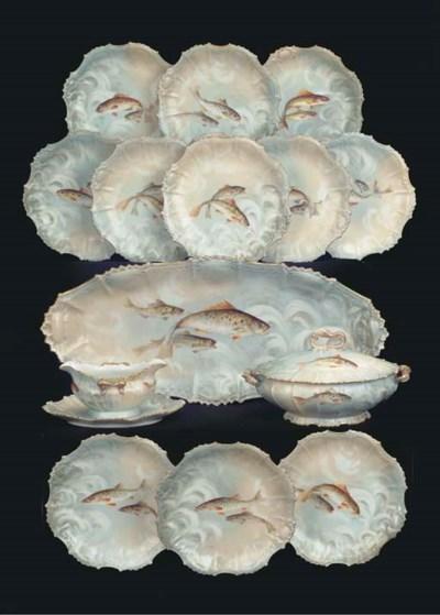 (16) A Limoges porcelain fish