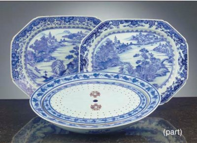 (5)  A Chinese blue and white