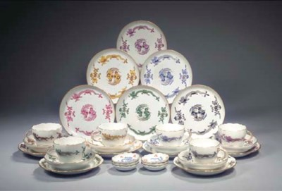 (30) A collection of Meissen p
