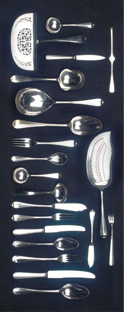 (288)A Dutch silver flatware s