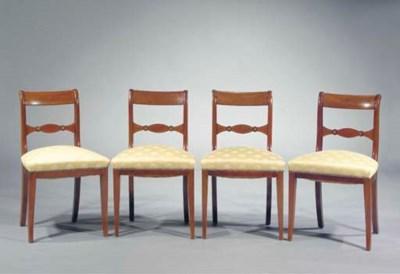 A set of four English mahogany