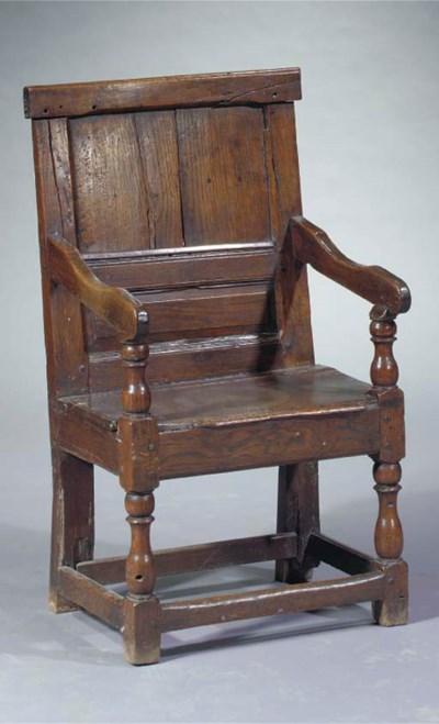 An English oak wainscot chair