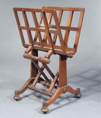 An early Victorian mahogany fo