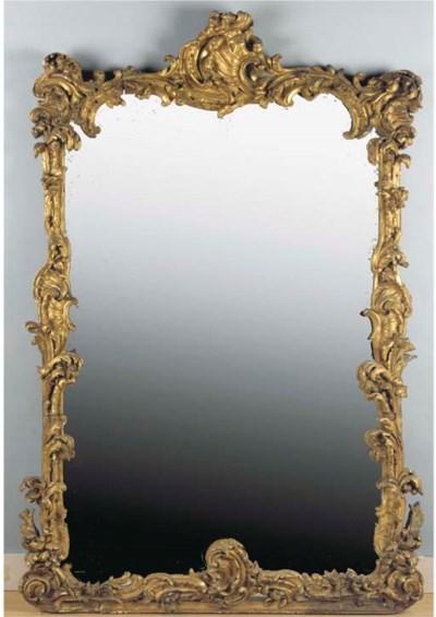A German giltwood mirror