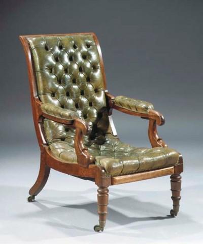 A George IV mahogany reclining
