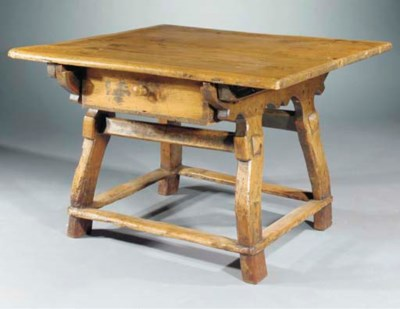 A South German pine and maple