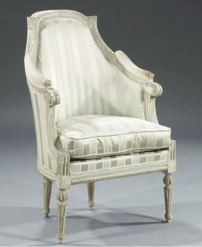 A Louis XVI parcel-gilt and wh