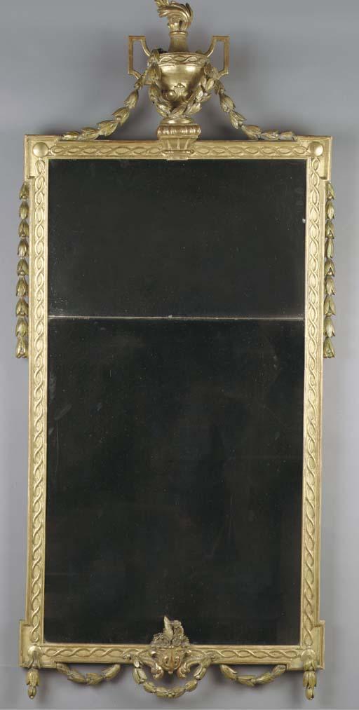 A Dutch giltwood mirror