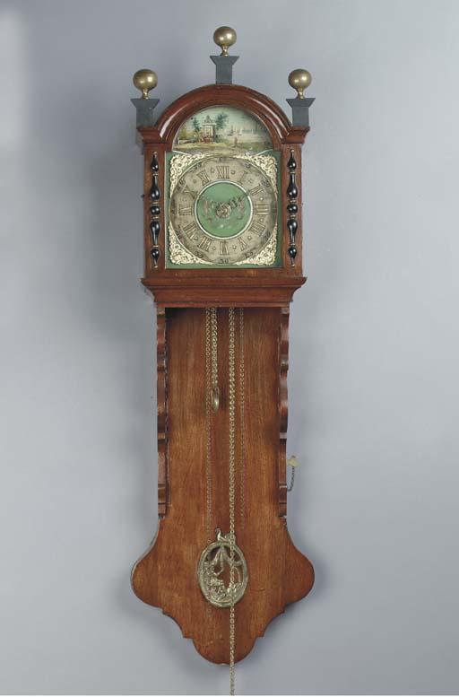 A DUTCH OAK NOTARY CLOCK