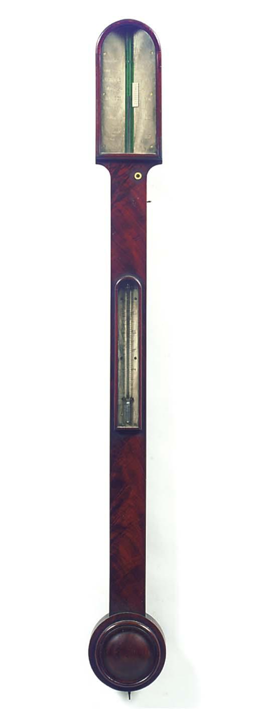 A Victorian mahogany stick barometer