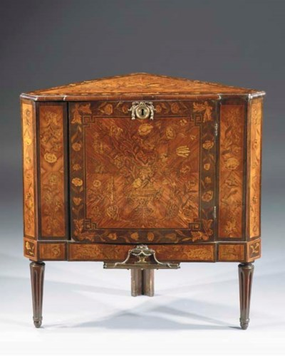 A Dutch gilt brass-mounted tul