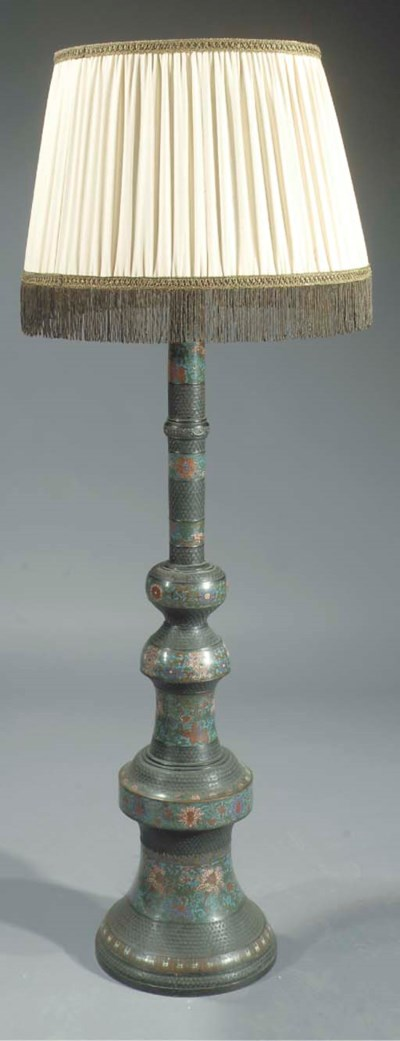 A Chinese bronze and cloisonne