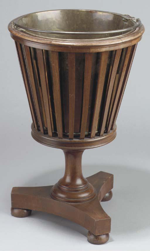 (2) A Dutch mahogany tea-stove
