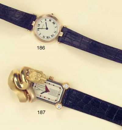 A LADY'S 18K WRISTWATCH, BY CA