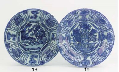 A blue and white 'kraak porsel