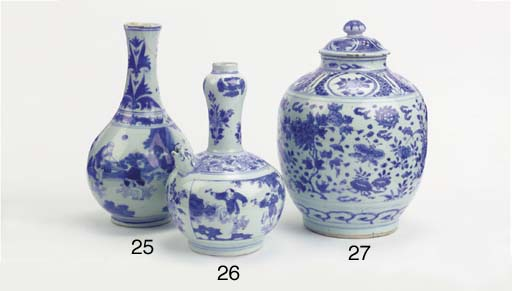 A late Ming blue and white jar