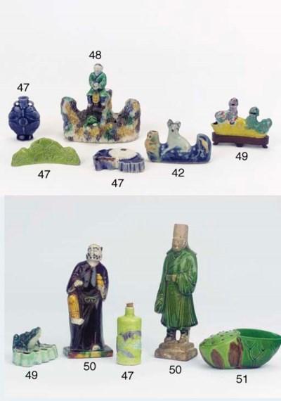 A famille verte biscuit model