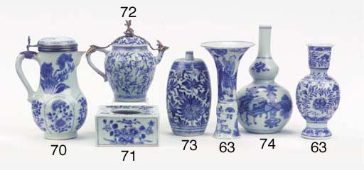 (19) An assorted lot of blue a