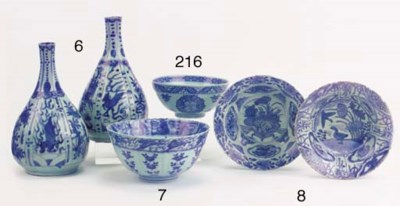 A collection of bowls and a ja