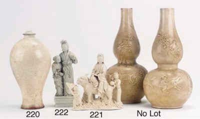 A blanc-de-Chine figure group