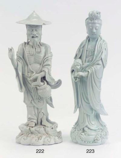 Two blanc-de-Chine figure grou
