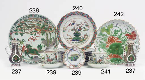 A set of eight famille verte p