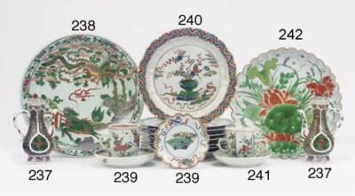 A set of eight famille verte p