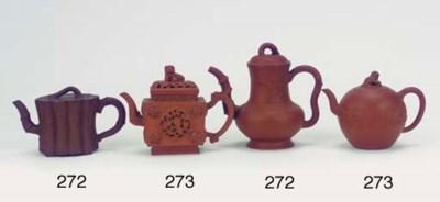 Seven various Yixing teapots a