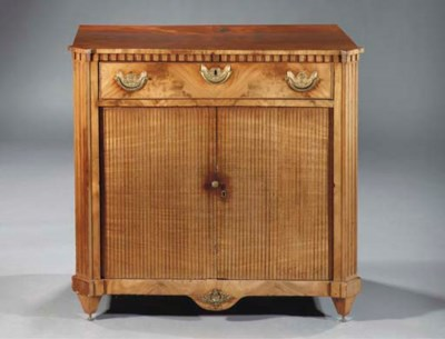 A Dutch mahogany sideboard