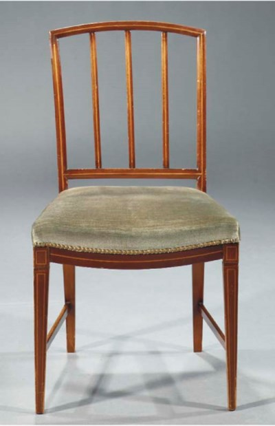 A set of five Dutch mahogany a