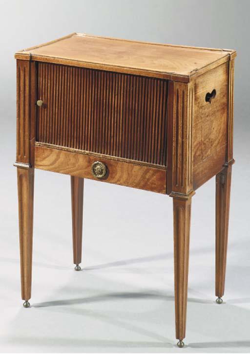 A Dutch mahogany pot-cupboard
