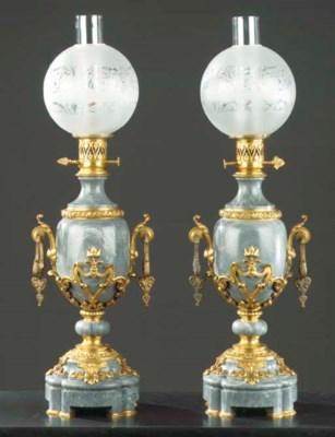 A pair of ormolu-mounted bleu