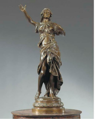 AN ITALIAN BRONZE FIGURE OF A