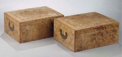 A pair of Dutch tulipwood and
