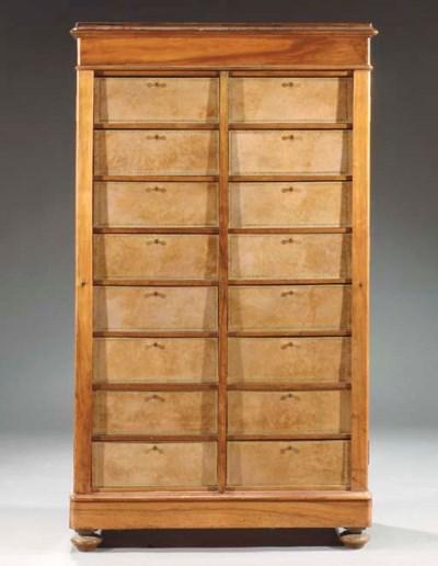 A French mahogany cartonnier