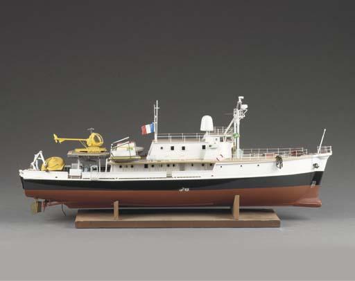 A DETAILED MODEL OF THE EXPLORATION-SHIP CALYPSO