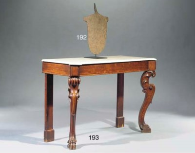 AN ENGLISH STAINED OAK CONSOLE