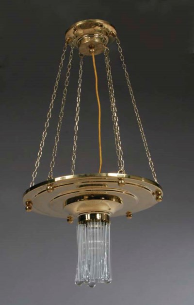 A PAIR OF BRASS CEILING LIGHTS