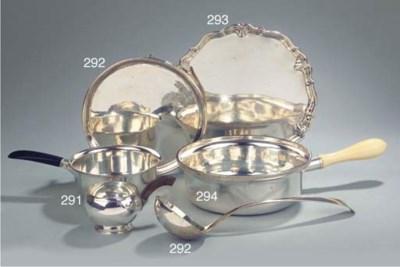 An English silver salver and a
