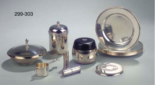 A Danish silver container with