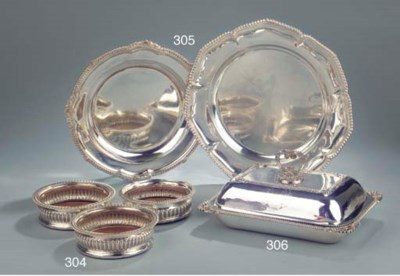 Two various silver dishes