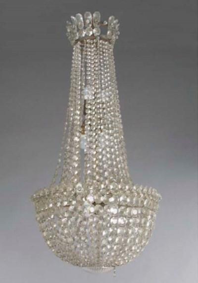 A cut-glass eleven-light chand