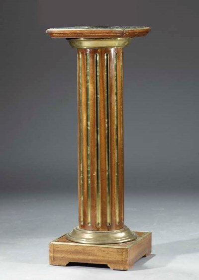 A Russian brass-mounted mahoga
