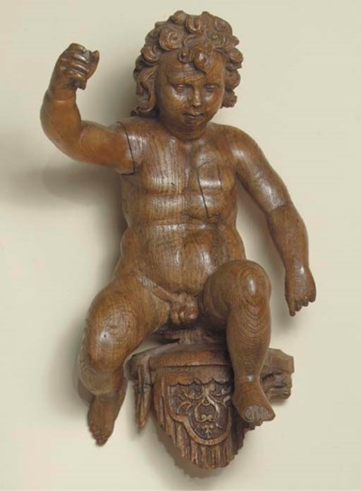 A NETHERLANDISH CARVED WOOD FI
