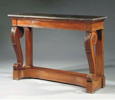 A Restauration mahogany consol