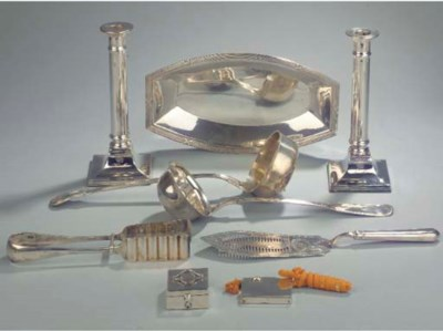 Nine various silver and plated