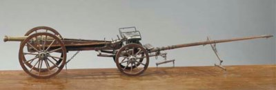 A model of a brass canon
