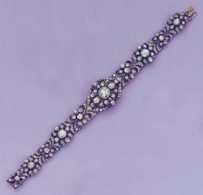 A ROSE-CUT DIAMOND BRACELET