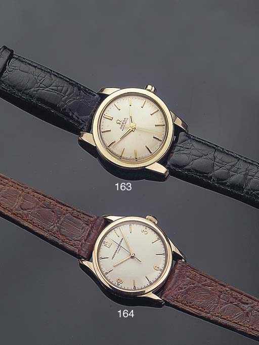 A GOLD AUTOMATIC WRISTWATCH WI
