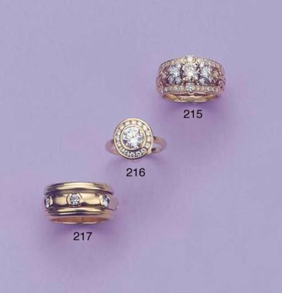 A DIAMOND BAND RING